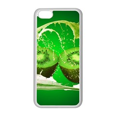 Kiwi Fruit Vitamins Healthy Cut Apple Iphone 5c Seamless Case (white) by Amaryn4rt