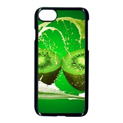 Kiwi Fruit Vitamins Healthy Cut Apple Iphone 7 Seamless Case (black)