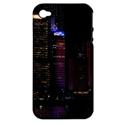 Hong Kong China Asia Skyscraper Apple Iphone 4/4s Hardshell Case (pc+silicone) by Amaryn4rt