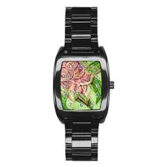 Colorful Design Acrylic Stainless Steel Barrel Watch