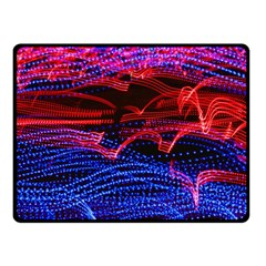Lights Abstract Curves Long Exposure Fleece Blanket (small) by Amaryn4rt
