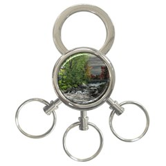 Landscape Summer Fall Colors Mill 3 Ring Key Chains by Amaryn4rt
