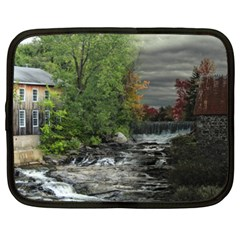 Landscape Summer Fall Colors Mill Netbook Case (xxl)  by Amaryn4rt