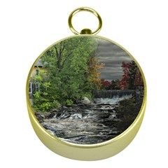 Landscape Summer Fall Colors Mill Gold Compasses by Amaryn4rt