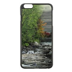 Landscape Summer Fall Colors Mill Apple Iphone 6 Plus/6s Plus Black Enamel Case