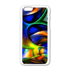 Light Texture Abstract Background Apple Iphone 6/6s White Enamel Case