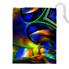 Light Texture Abstract Background Drawstring Pouches (xxl) by Amaryn4rt