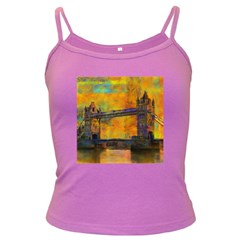 London Tower Abstract Bridge Dark Spaghetti Tank