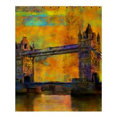 London Tower Abstract Bridge Shower Curtain 60  X 72  (medium)  by Amaryn4rt