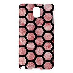 Hexagon2 Black Marble & Red & White Marble (r) Samsung Galaxy Note 3 N9005 Hardshell Case by trendistuff