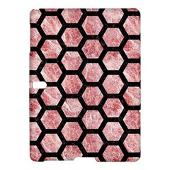 Hexagon2 Black Marble & Red & White Marble (r) Samsung Galaxy Tab S (10 5 ) Hardshell Case  by trendistuff