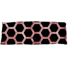 Hexagon2 Black Marble & Red & White Marble Body Pillow Case Dakimakura (two Sides) by trendistuff