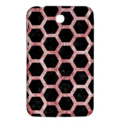 Hexagon2 Black Marble & Red & White Marble Samsung Galaxy Tab 3 (7 ) P3200 Hardshell Case  by trendistuff