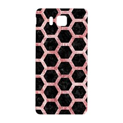 Hexagon2 Black Marble & Red & White Marble Samsung Galaxy Alpha Hardshell Back Case by trendistuff
