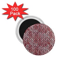 Hexagon1 Black Marble & Red & White Marble (r) 1 75  Magnet (100 Pack)  by trendistuff