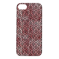 Hexagon1 Black Marble & Red & White Marble (r) Apple Iphone 5s/ Se Hardshell Case by trendistuff