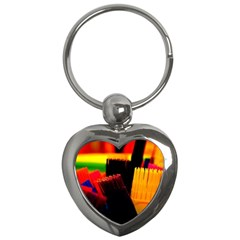 Plastic Brush Color Yellow Red Key Chains (heart)  by Amaryn4rt