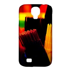 Plastic Brush Color Yellow Red Samsung Galaxy S4 Classic Hardshell Case (pc+silicone)