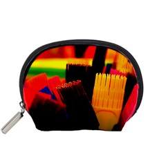Plastic Brush Color Yellow Red Accessory Pouches (small)