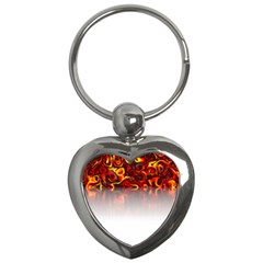 Effect Pattern Brush Red Key Chains (heart)  by Amaryn4rt