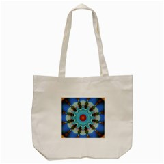 Pattern Blue Brown Background Tote Bag (cream)