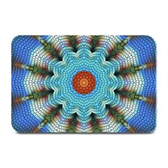Pattern Blue Brown Background Plate Mats by Amaryn4rt