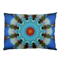 Pattern Blue Brown Background Pillow Case