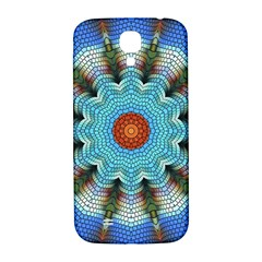 Pattern Blue Brown Background Samsung Galaxy S4 I9500/i9505  Hardshell Back Case