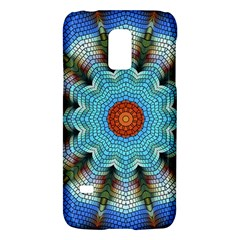 Pattern Blue Brown Background Galaxy S5 Mini by Amaryn4rt