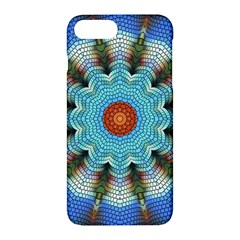 Pattern Blue Brown Background Apple Iphone 7 Plus Hardshell Case by Amaryn4rt