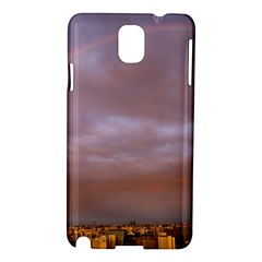 Rain Rainbow Pink Clouds Samsung Galaxy Note 3 N9005 Hardshell Case