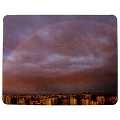 Rain Rainbow Pink Clouds Jigsaw Puzzle Photo Stand (rectangular)
