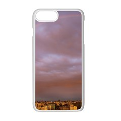 Rain Rainbow Pink Clouds Apple Iphone 7 Plus White Seamless Case