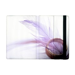 Ring Feather Marriage Pink Gold Apple Ipad Mini Flip Case by Amaryn4rt