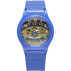 Peace Monument Werder Mountain Round Plastic Sport Watch (s)