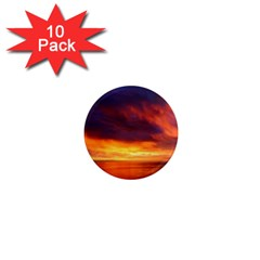 Sunset The Pacific Ocean Evening 1  Mini Magnet (10 Pack)  by Amaryn4rt