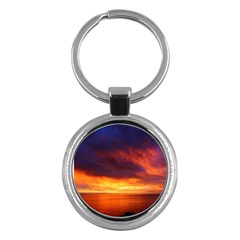 Sunset The Pacific Ocean Evening Key Chains (round)  by Amaryn4rt