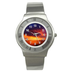 Sunset The Pacific Ocean Evening Stainless Steel Watch by Amaryn4rt