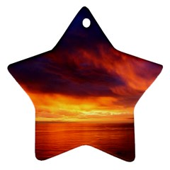 Sunset The Pacific Ocean Evening Star Ornament (two Sides)  by Amaryn4rt