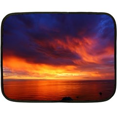 Sunset The Pacific Ocean Evening Double Sided Fleece Blanket (mini)  by Amaryn4rt