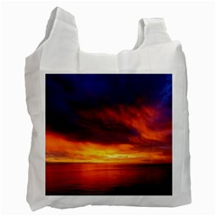 Sunset The Pacific Ocean Evening Recycle Bag (two Side)  by Amaryn4rt