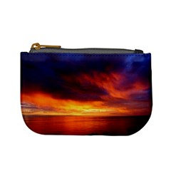 Sunset The Pacific Ocean Evening Mini Coin Purses by Amaryn4rt