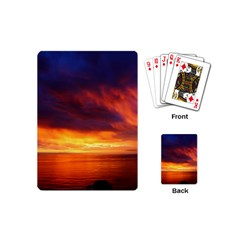 Sunset The Pacific Ocean Evening Playing Cards (mini)  by Amaryn4rt