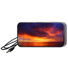 Sunset The Pacific Ocean Evening Portable Speaker (black)  by Amaryn4rt
