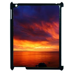 Sunset The Pacific Ocean Evening Apple Ipad 2 Case (black) by Amaryn4rt