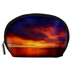 Sunset The Pacific Ocean Evening Accessory Pouches (large)  by Amaryn4rt