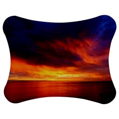 Sunset The Pacific Ocean Evening Jigsaw Puzzle Photo Stand (bow) by Amaryn4rt