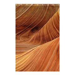 Sandstone The Wave Rock Nature Red Sand Shower Curtain 48  X 72  (small)  by Amaryn4rt