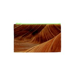 Sandstone The Wave Rock Nature Red Sand Cosmetic Bag (xs) by Amaryn4rt