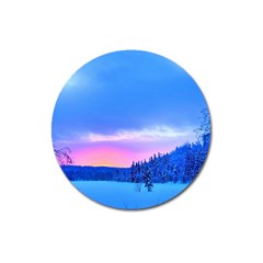 Winter Landscape Snow Forest Trees Magnet 3  (round) by Amaryn4rt